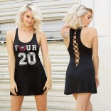 Racerback Jersey Chemise With Lace-Up Back 42014